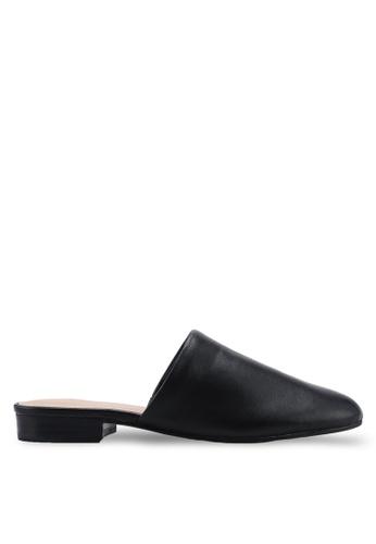 ALDO 黑色 質感穆勒鞋 492CCSH6E38A15GS_1