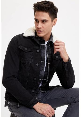 DeFacto black Slim Fit Denim Jacket 79B11AAA760464GS_1