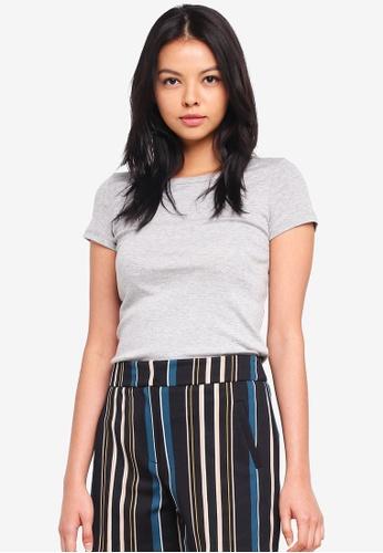 Dorothy Perkins grey Cotton Tshirt 458AAAA9A6AE52GS_1