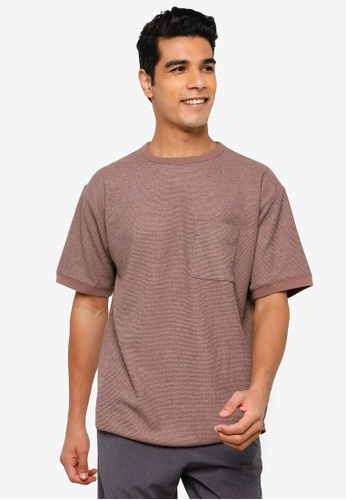 RAGEBLUE brown Knit T-Shirt 5F677AACB5478BGS_1