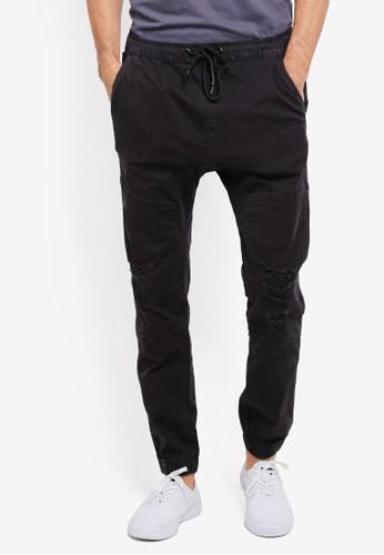 Cotton On black Drake Cuffed Pants CO372AA0SS9MMY_1