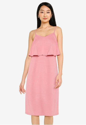 ZALORA BASICS pink Double Layer Cami Dress 2116DAA4B085F7GS_1
