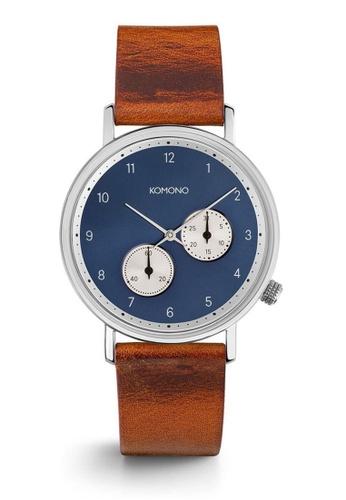 KOMONO brown Walther Cognac Watch KO163AC0T0TYMY_1