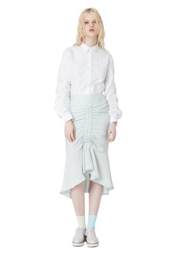 EJnolee white White Sleeve Wrinkled Shirt EJ188AA0FIGMSG_1