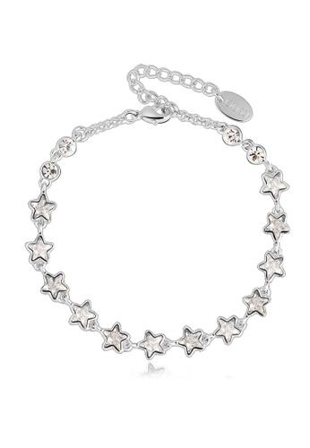 OUXI silver OUXI Brilliant Stars Bracelet OU821AC20TNNMY_1