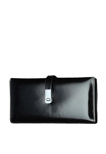 Twenty Eight Shoes black VANSA Top Layer Cowhide Bi-Fold Long Wallet VBU-Wt1240 412D8AC3B9B9EAGS_1