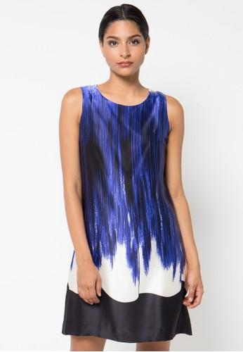 Etoile D'Elfas white and blue and multi Melinda Sleeveless Swing Dress 7216CAA56C91D7GS_1