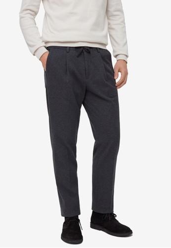 OVS grey Drawstring Stretch Trousers E0507AA2F747AEGS_1