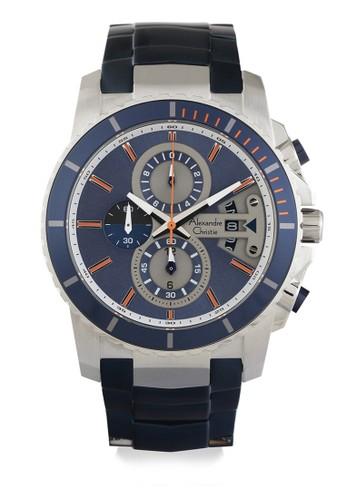 Alexandre Christie blue Alexandre Christie Jam Tangan Pria - Blue Silver - Stainless Steel - 6455 MCBTUBU AL709AC0VPU9ID_1