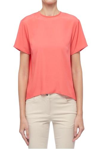 ck Calvin Klein 粉紅色 輕薄背部百摺綴飾上衣 B0E11AA07F08FCGS_1