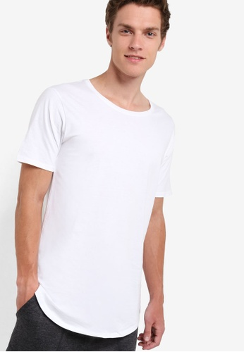 Factorie 白色 The Curved Tall Tee FA880AA76VCHMY_1