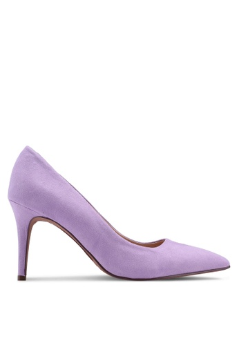 Dorothy Perkins purple Wide Lilac Microfibre Electra Court Shoes 665F9SH697CF97GS_1