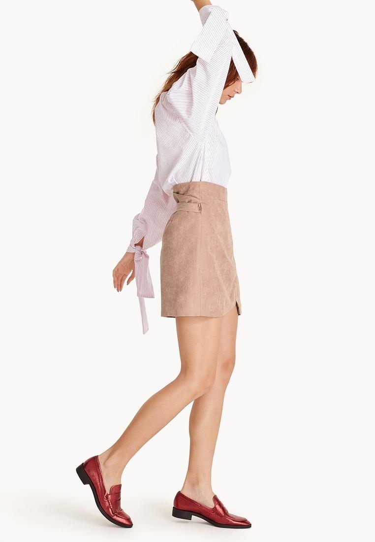 93bc23827dcf Suede Pink Devin Faux Mini Wrap Skirt Pomelo qHtZww-klausecares.com