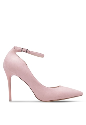 Nose pink Ankle-Strap Pointy Toe Heels NO327SH0RVMJMY_1