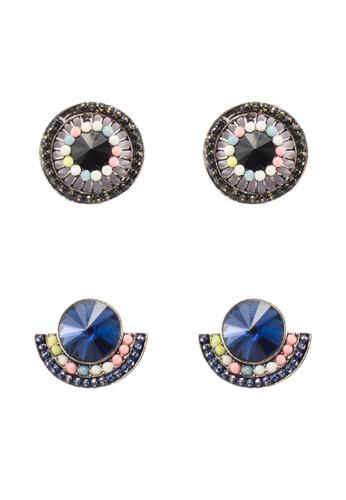 Red's Revenge blue 2-in-1 Subtle Sparkle Vintage Earrings Set 6C489AC2F1CEEAGS_1