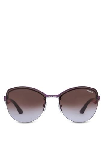 Inesprit台灣門市 Vogue 時尚半框太陽眼鏡, 飾品配件, 飾品配件