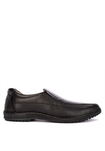Alberto black Genuine Leather Comfort Shoes AD379SH867DB89GS_1