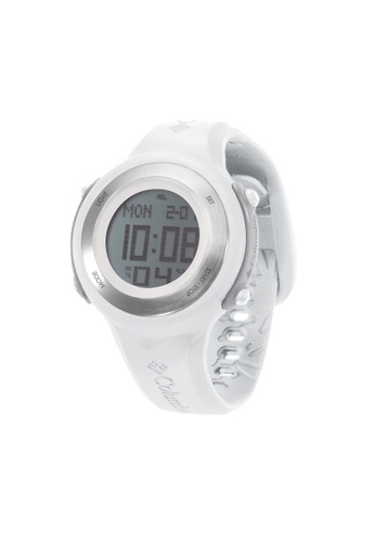 Columbia white and silver Columbia Comet CT012-100, White / Silver Case, Digital Chronograph Watch CO232AC65ZYSMY_1