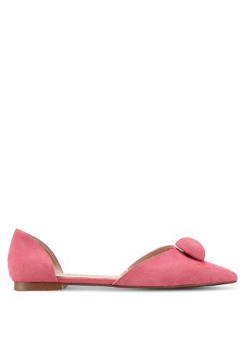 Mango 粉紅色 尖頭平底鞋 79BE7SHE5317AAGS_1