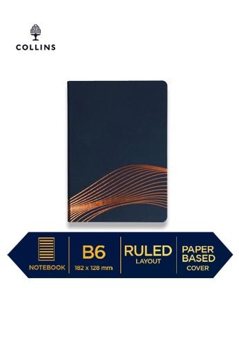 Collins blue Collins Vanguard  ─  NotebookB6 Ruled Blue Wave 14CE9HL52DBEA7GS_1