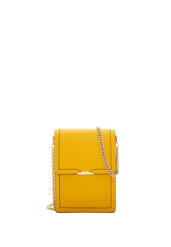 BONIA yellow Dark Yellow Olivia Top Flap Crossbody II 6D074AC171B1A4GS_1