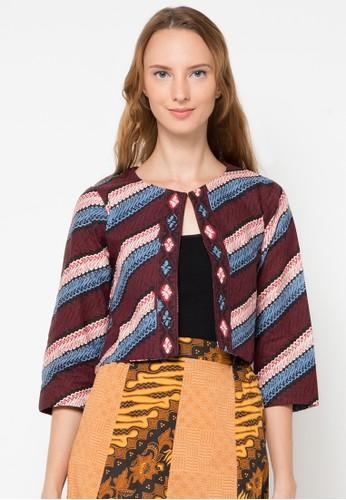 Le Viel Batik brown Karina Cardigan LE804AA55LFGID_1