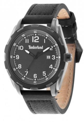 Timberland black Timberland Newmarket TBL.13330XSUB/61A Black Leather Strap Men Watch TI063AC45EJYMY_1