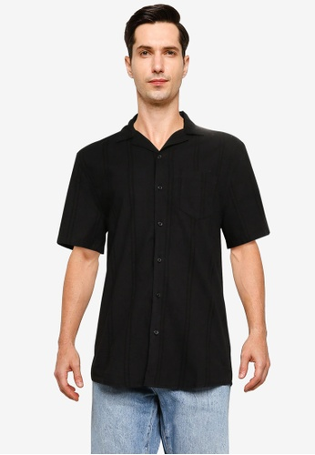 Cotton On black Textured Short Sleeve Shirt BF8F6AA5A9881BGS_1
