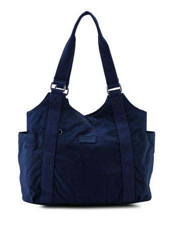Bagstationz navy Crinkled Nylon Shoulder Bag 8C2E6ACA144662GS_1