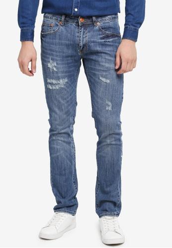 Electro Denim Lab 藍色 Calypso Slim Tapered Jeans 6DB42AA452BF29GS_1