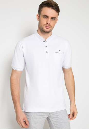 LGS white Regular Fit - Kaos Casual - Model Kancing - Putih 3100DAA63F814BGS_1