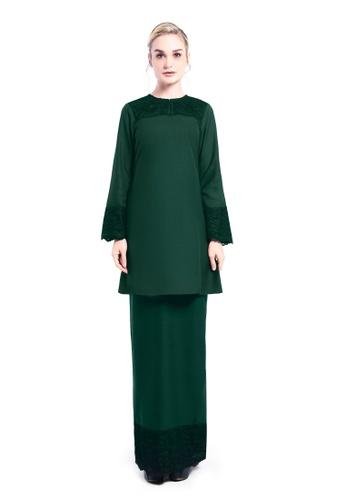 De Leuca green De Leuca Kurung Rona (Emerald Green) E3E91AA777FF93GS_1