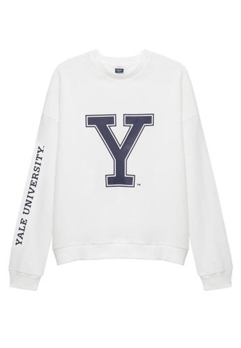 MANGO KIDS white Yale University Sweatshirt 5BE4DKAC716253GS_1