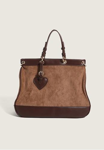 Lara brown Women's PU Leather Zipper Handbag Shoulder Bag - Dark Brown 17189ACBC8E74EGS_1