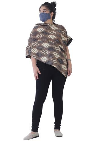GESYAL multi Blus Tunik Polos Atasan Loose Big Size Asimetris Ponco Batik Coklat Pastel P3 EB8FEAA0A8D8C0GS_1