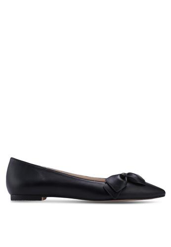 ZALORA 黑色 蝴蝶結平底鞋 B3835SHA978080GS_1
