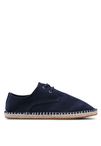 River Island navy Lace Up Espadrilles 9CA81SH1095B79GS_1