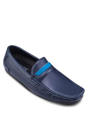 拼色方esprit 台北頭仿皮樂福鞋, 鞋, 鞋