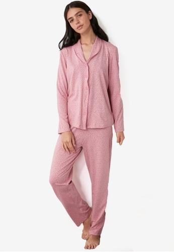 Trendyol purple Knit Pajama Set 77AD4AAEAF341CGS_1