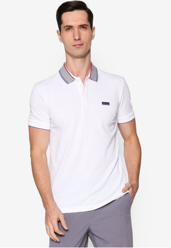 BOSS white Paddy Polo Shirt DA43DAA321E798GS_1