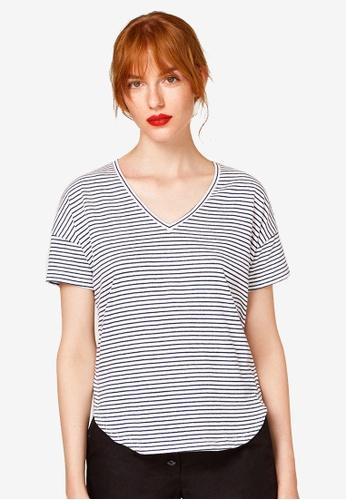 ESPRIT white Stripe T-Shirt D4DE1AA028CBACGS_1