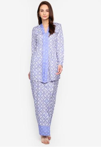 Qhaira Kebaya from Haizi in Blue