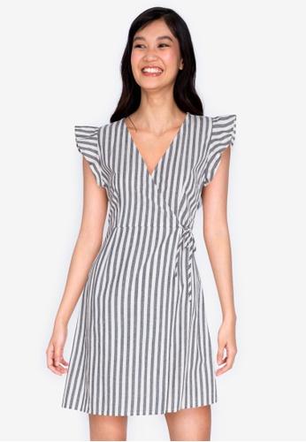 ZALORA BASICS multi Frill Sleeve Wrap Dress 3F796AAFE5D7F1GS_1