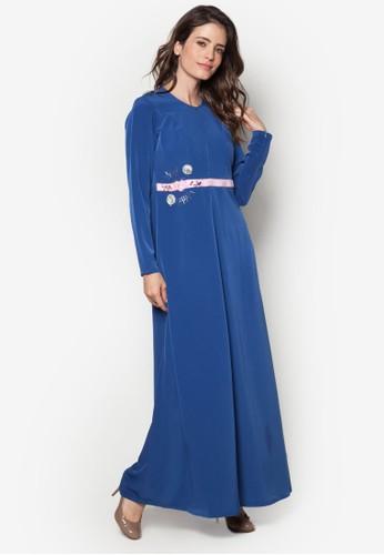 Safzalora 順豐ana 02 珠繡褶飾長洋裝, 服飾, 晚宴禮服