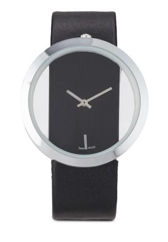 簡約仿皮圓京站 esprit錶, 錶類, 飾品配件