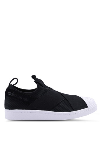 finest selection ea610 ac1f2 adidas black adidas originals superstar slip on w 47EAASH09071D8GS 1
