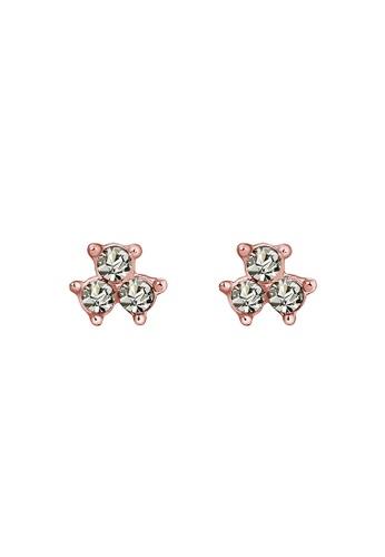 Elli Germany gold Filigree Geo Classic Swarovski® Crystals 925 Silver Rose Gold Plated Earrings EL474AC0S1ZOMY_1
