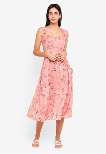 Mky Clothing Pink Side Pocket Ova Flower Dress 7699daa27feaa9gs 1