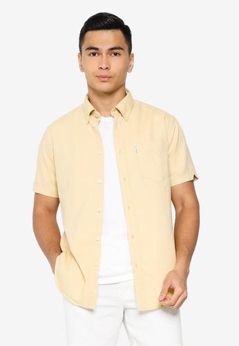 Ben Sherman yellow Signature Gots Organic Oxford Shirt 2F27AAA861D967GS_1