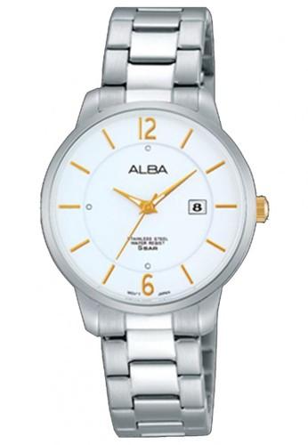 Alba silver Jam Tangan Alba Ladies AH7F53 Strap Stainless Steel Silver 344D8AC5AF0594GS_1